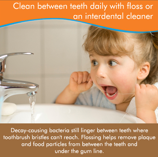 Lets teach our children to floss at an early age so they don't develop some of the dental problems that we have!