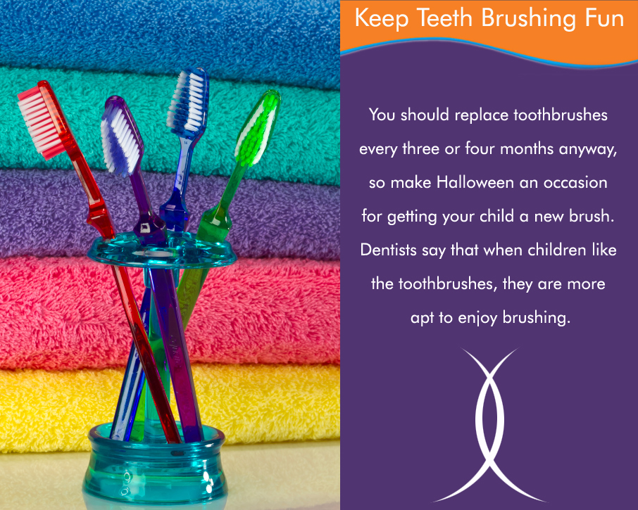 On this Halloween, let's take the opportunity to change our toothbrush to a one of our favorite color...