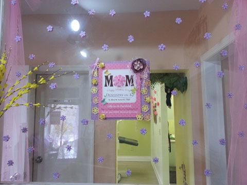 Our office all decked up for Mothers Day Celebrations 2