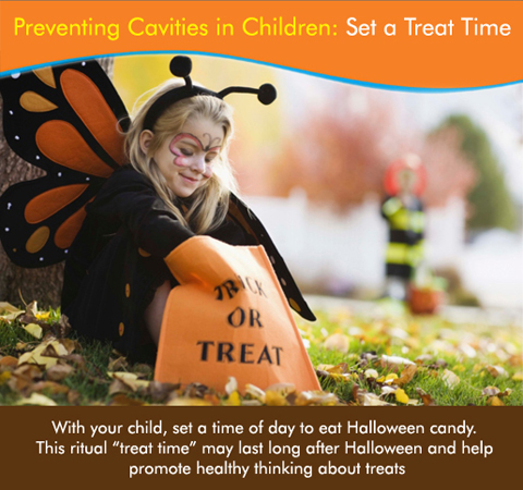 Here's a valuable tip for you this Halloween: Set a treat time before your child goes on trick o' treat