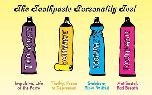 The toothpaste personality test