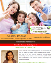 Dr Rina Kotecha Monthly News Mississauga August 2015