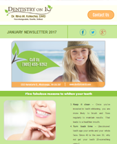 Dr Rina Kotecha Monthly News Mississauga January 2017