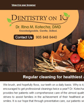 Dr Rina Kotecha Monthly News Mississauga November 2017