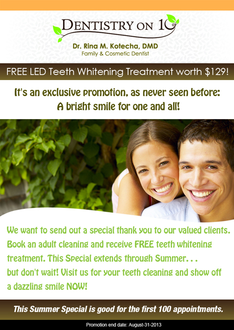 Specials Mississauga - Free Teeth Whitening Offer
