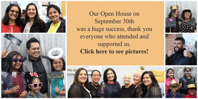 Open house event picture collage