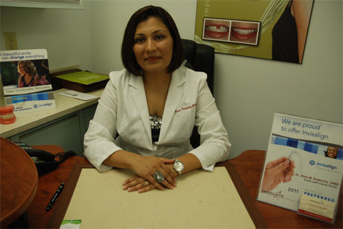 Dentistry Services in Mississauga - Dr. Rina Kotecha in office