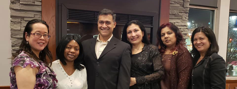 Dr Rina Kotecha and the Team