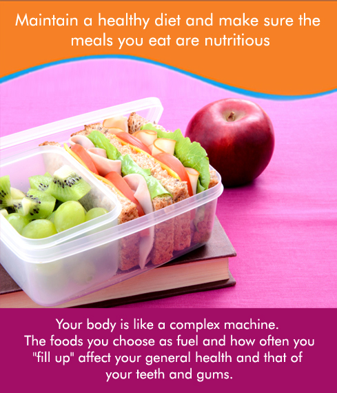 Intake of nutritious food would make you and your child healthy and hearty!