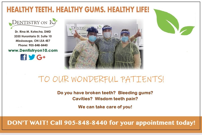 Healthy Teeth banner - Dr. Rina Kotecha