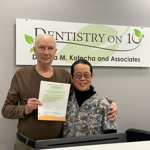 Happy family with Dr. Rina Kotecha, Patients who recently successfully completed joseph janaszek at Dentistry on 10