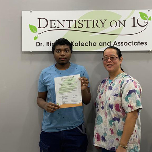 Joshua R, Patients who recently successfully completed the Soft Tissue Management Program at Dentistry on 10