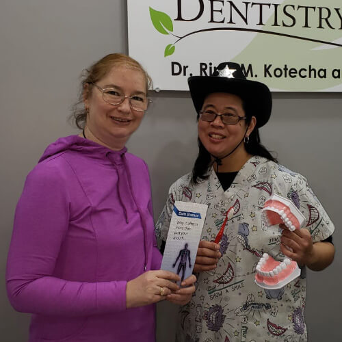 Lidiya Y, Patients who recently successfully completed the Soft Tissue Management Program at Dentistry on 10