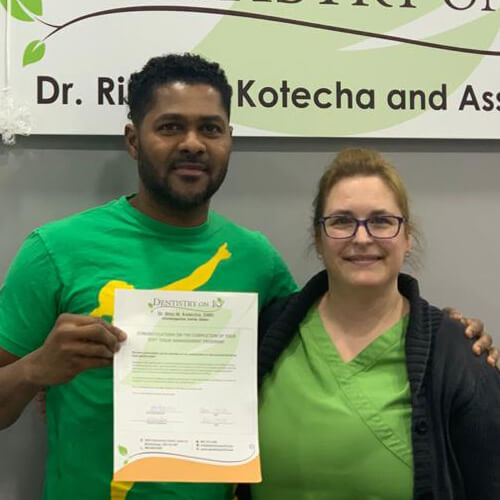 Ricardo C, Patients who recently successfully completed the Soft Tissue Management Program at Dentistry on 10