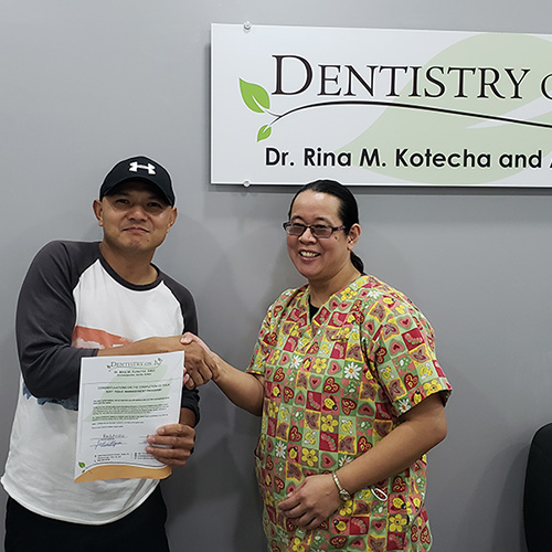 Robin R, Patients who recently successfully completed the Soft Tissue Management Program at Dentistry on 10
