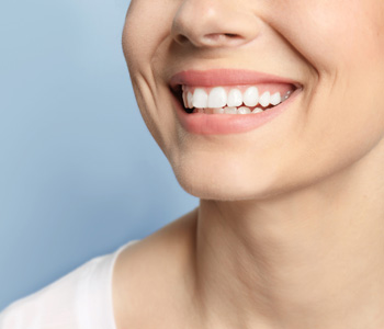 Smiling woman with perfect teeth