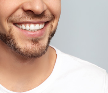 Young man with perfect teeth