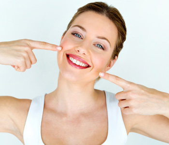 Smiling woman with great teeth