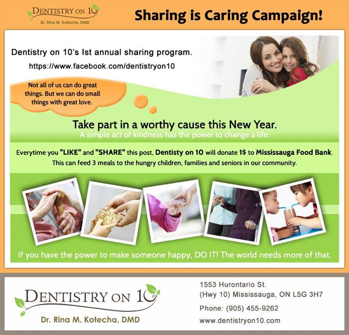 Sharing is Caring funraising campaign