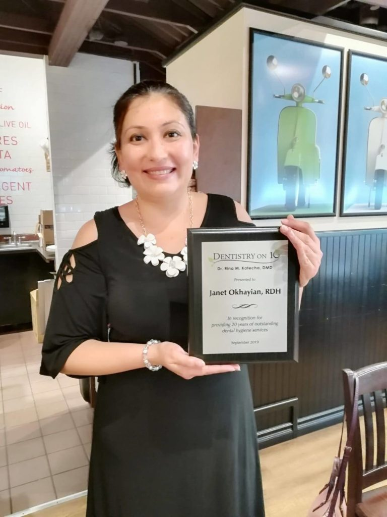 Dental Hygienist Janet Okhayian celebrated 20 years image 2