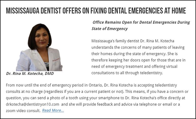 Fixing Dental Emergencies at Home - Dr. Rina Kotecha