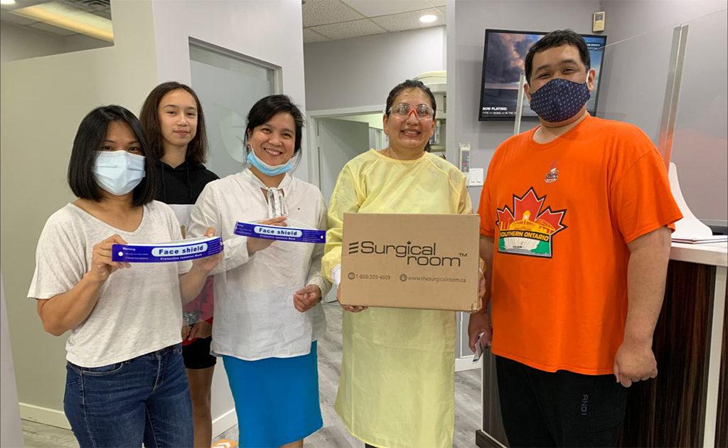 65 Faceshields donation - Dr. Rina Kotecha